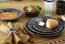 Traditionals Blue Agate Stoneware Dinnerware