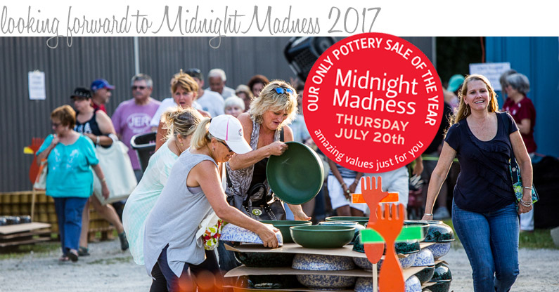 Midnight Madness Pottery Sale 2017